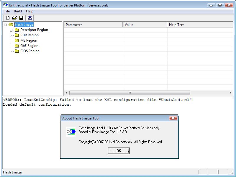 Flash Images Tool for Server Platform 1.1.0.4 based on Flash Image Tool 1.7.3.0