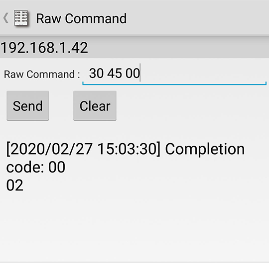 Raw Command Get and Set Fan Mode