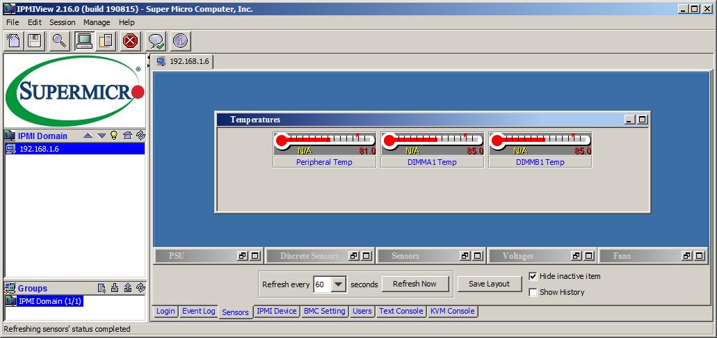 Опции мониторинга, связанные с наблюдением температурного режима удаленных компьютеров, наряду с другими данными формируют серверную экосистему