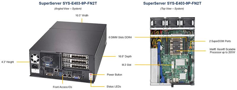 Компоновка сервера SuperServer E403-9P-FN2T