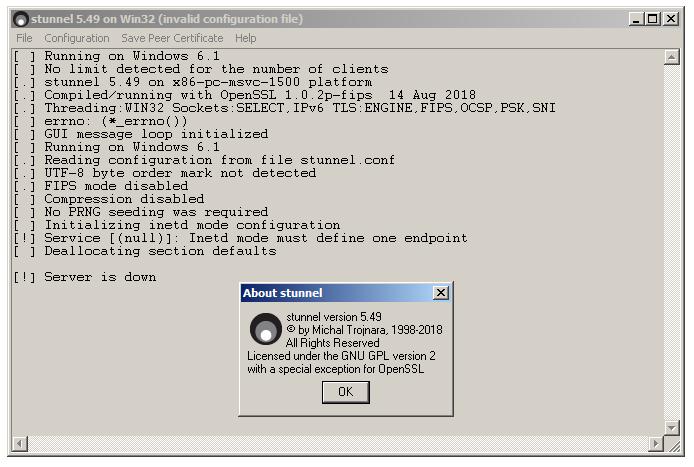 Утилита stunnel предназначена для работы в качестве оболочки TLS-шифрования между инструментальной платформой и удаленными серверами